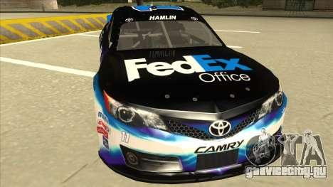 Toyota Camry NASCAR No. 11 FedEx Office для GTA San Andreas вид слева