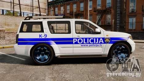 Nissan Pathfinder Croatian Police [ELS] для GTA 4 вид слева