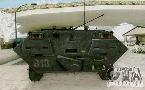 БТР 80 для GTA San Andreas вид изнутри