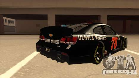 Chevrolet SS NASCAR No. 78 Furniture Row для GTA San Andreas вид справа