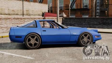 Chevrolet Corvette C4 1996 v2 для GTA 4 вид слева