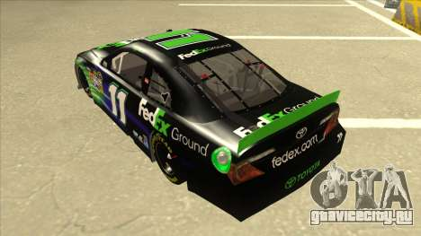 Toyota Camry NASCAR No. 11 FedEx Ground для GTA San Andreas вид сзади