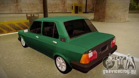Fiat 128 Super Europa для GTA San Andreas вид сзади