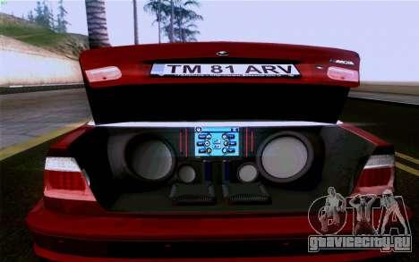 BMW M3 Cabrio для GTA San Andreas двигатель