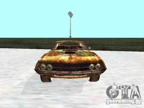 Ford Torino Rusty для GTA San Andreas вид сзади