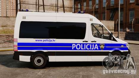 Mercedes-Benz Sprinter Croatian Police [ELS] для GTA 4 вид слева