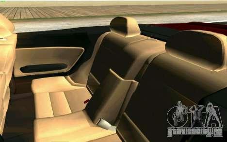 BMW M3 Cabrio для GTA San Andreas вид снизу