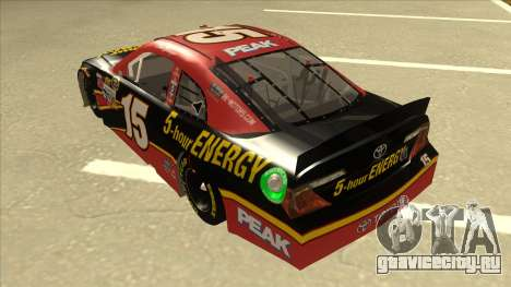 Toyota Camry NASCAR No. 15 5-hour Energy для GTA San Andreas вид сзади
