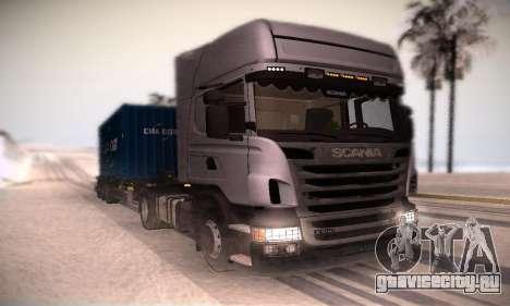 Scania R500 Topline для GTA San Andreas вид слева