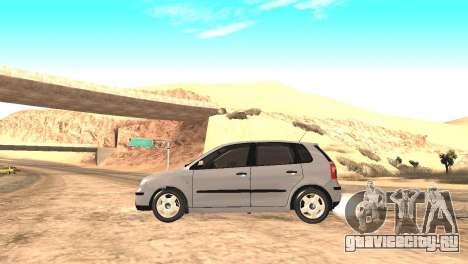 Volkswagen Polo 2.0 2005 для GTA San Andreas вид сзади слева