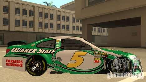 Chevrolet SS NASCAR No. 5 Quaker State для GTA San Andreas вид сзади слева