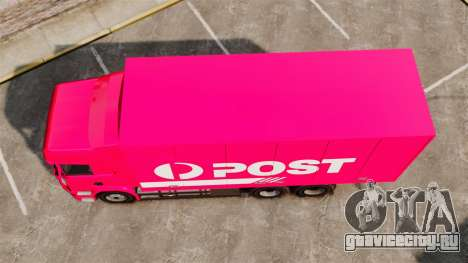 Scania R580 Tandem Australia Post для GTA 4 вид справа