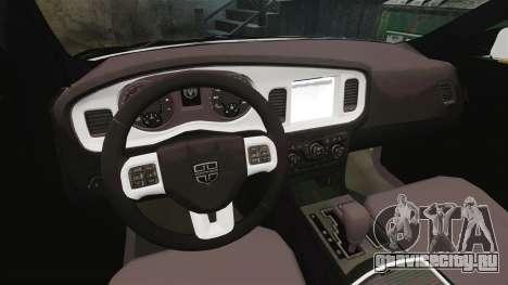 Dodge Charger 2013 AST [ELS] для GTA 4 вид сзади