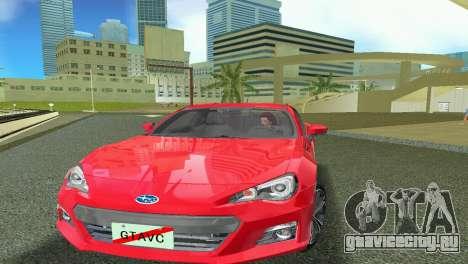 Subaru BRZ Type 1 для GTA Vice City вид слева