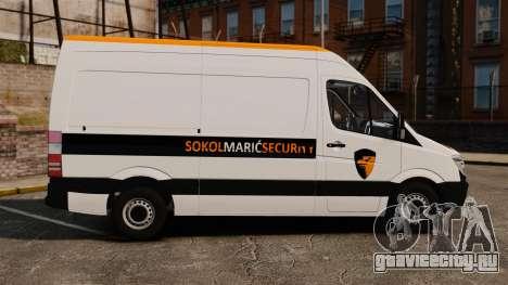Mercedes-Benz Sprinter Sokol Maric Security для GTA 4 вид слева