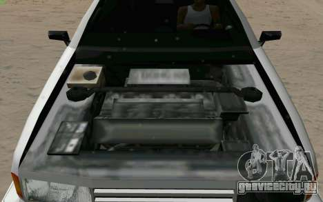 Manana Hatchback для GTA San Andreas вид сверху