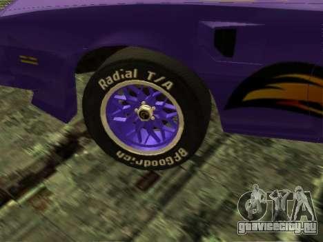 Pontiac Firebird Overhaulin для GTA San Andreas вид справа