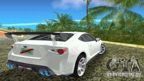 Subaru BRZ Type 4 для GTA Vice City вид изнутри