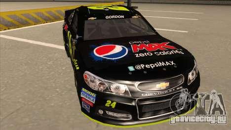 Chevrolet SS NASCAR No. 24 Pepsi Max AARP для GTA San Andreas вид слева
