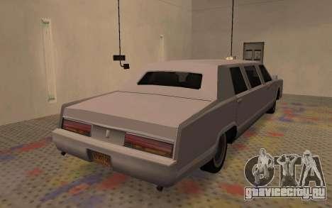 Лимузин из Driver Parallel Lines для GTA San Andreas вид сзади слева