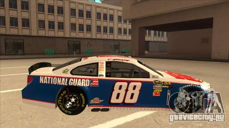 Chevrolet SS NASCAR No. 88 National Guard для GTA San Andreas вид сзади слева