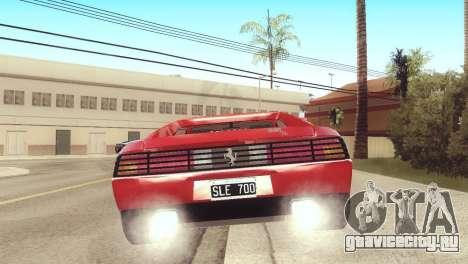 Ferrari 348 TB для GTA San Andreas вид слева