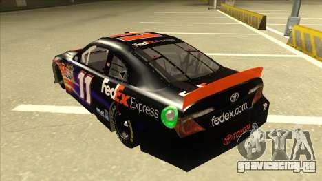 Toyota Camry NASCAR No. 11 FedEx Express для GTA San Andreas вид сзади