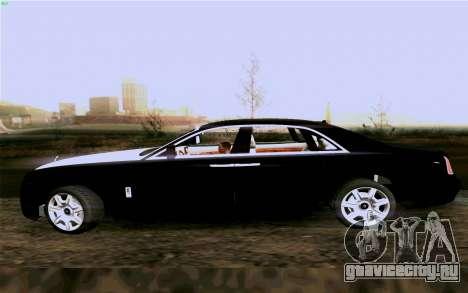 Rolls-Royce Ghost для GTA San Andreas вид справа