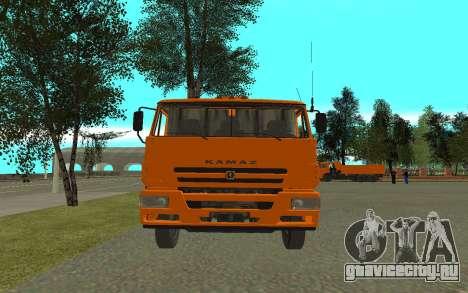 КамАЗ 6520 Цементовоз для GTA San Andreas вид справа