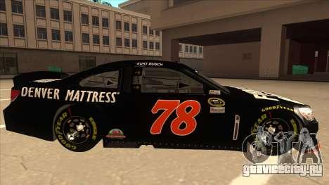 Chevrolet SS NASCAR No. 78 Furniture Row для GTA San Andreas вид сзади слева