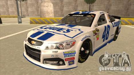 Chevrolet SS NASCAR No. 48 Lowes white для GTA San Andreas
