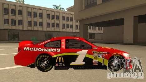 Chevrolet SS NASCAR No. 1 McDonalds для GTA San Andreas вид сзади слева