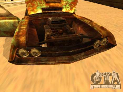 Ford Torino Rusty для GTA San Andreas вид изнутри