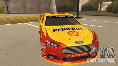 Ford Fusion NASCAR No. 22 Shell Pennzoil для GTA San Andreas вид слева