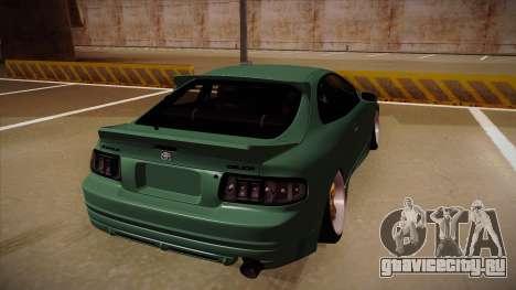 Toyota Celica GT4 для GTA San Andreas вид сзади
