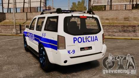 Nissan Pathfinder Croatian Police [ELS] для GTA 4 вид сзади слева