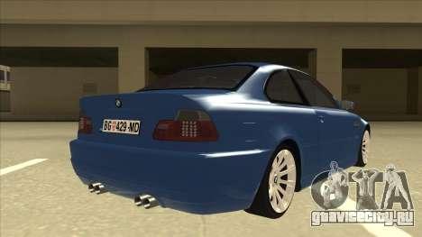 BMW M3 E46 для GTA San Andreas вид справа