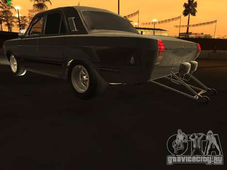 Газ 24 Drag Edition для GTA San Andreas вид сзади слева