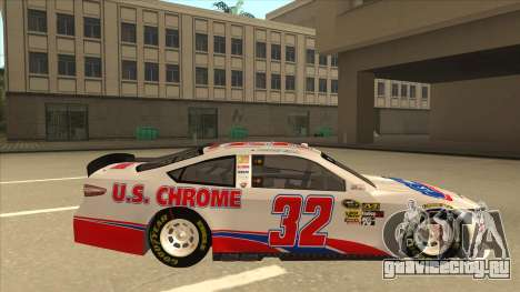 Ford Fusion NASCAR No. 32 U.S. Chrome для GTA San Andreas вид сзади слева