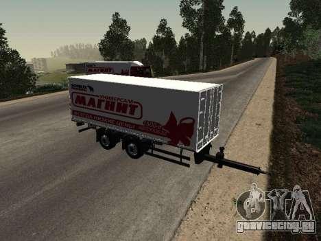 Прицеп MAN Магнит для GTA San Andreas вид сзади слева