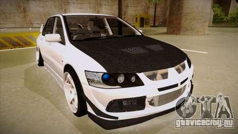 Mitsubishi EVO VIII для GTA San Andreas вид слева