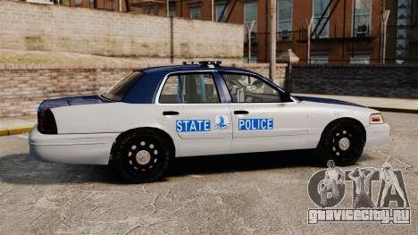 Ford Crown Victoria Virginia State Police [ELS] для GTA 4 вид слева