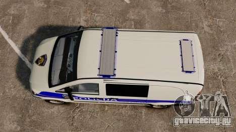 Mercedes-Benz Vito Croatian Police v2.0 [ELS] для GTA 4 вид справа