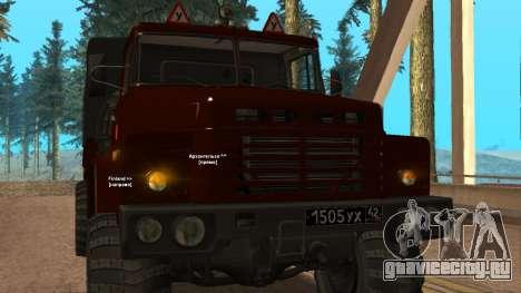 Краз Автошкола V.2.0 для GTA San Andreas вид изнутри