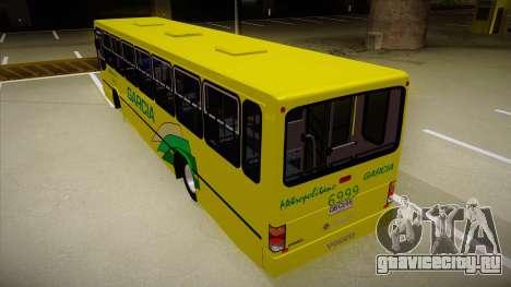 Busscar Urbanus SS Volvo B10 M garcia для GTA San Andreas вид сзади