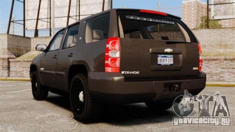 Chevrolet Tahoe Slicktop [ELS] v2 для GTA 4 вид сзади слева