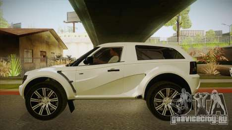 Bowler EXR S 2012 IVF & АПП для GTA San Andreas вид сзади слева