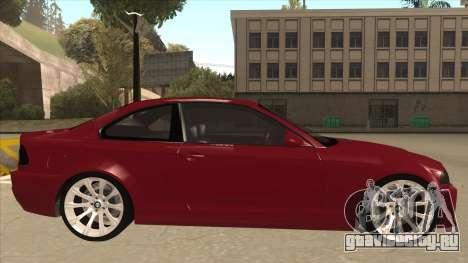 BMW M3 Tuned для GTA San Andreas вид сзади слева