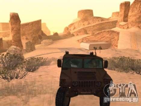 Hummer H1 из игры Resident Evil 5 для GTA San Andreas вид справа