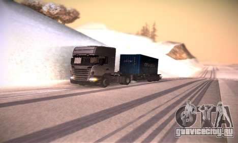 Scania R500 Topline для GTA San Andreas вид изнутри